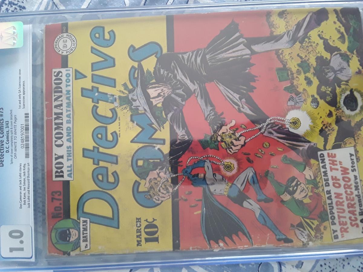 Detective Comics #73 CGC 1.0 ow/w