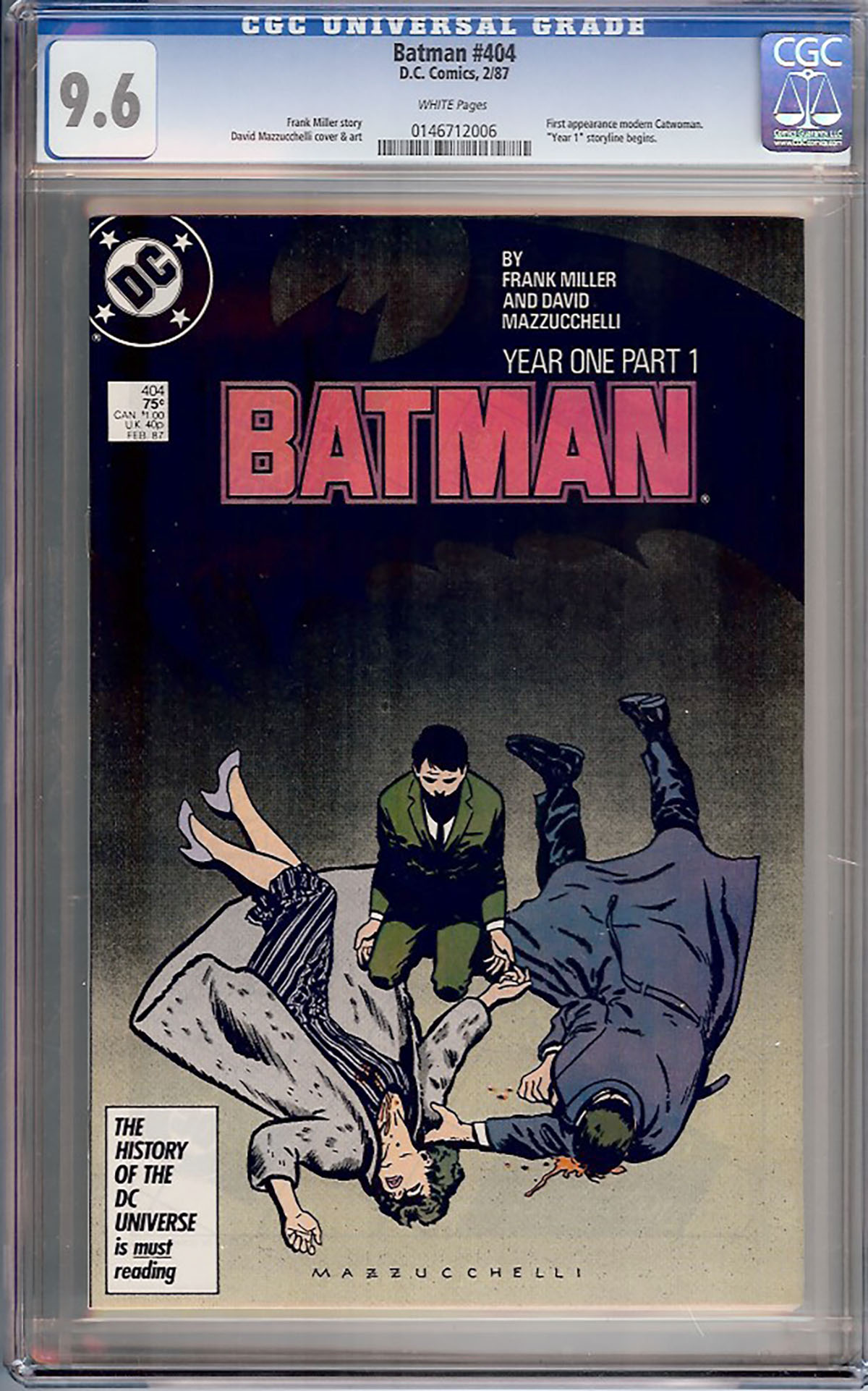 Batman #404 CGC 9.6 w