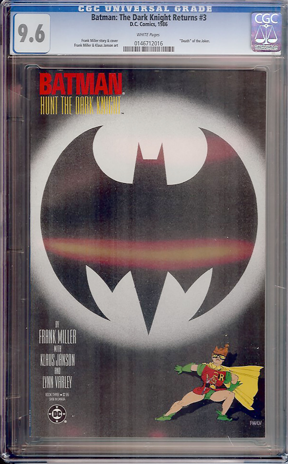 Batman: The Dark Knight Returns #3 CGC 9.6 w
