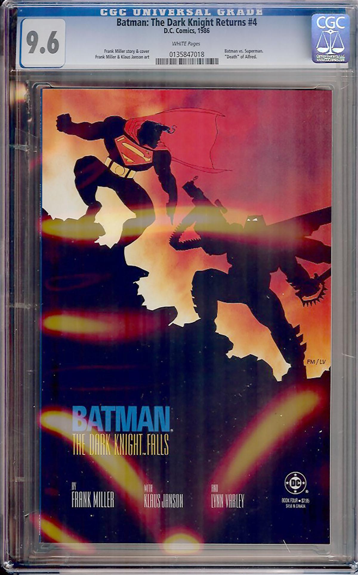 Batman: The Dark Knight Returns #4 CGC 9.6 w