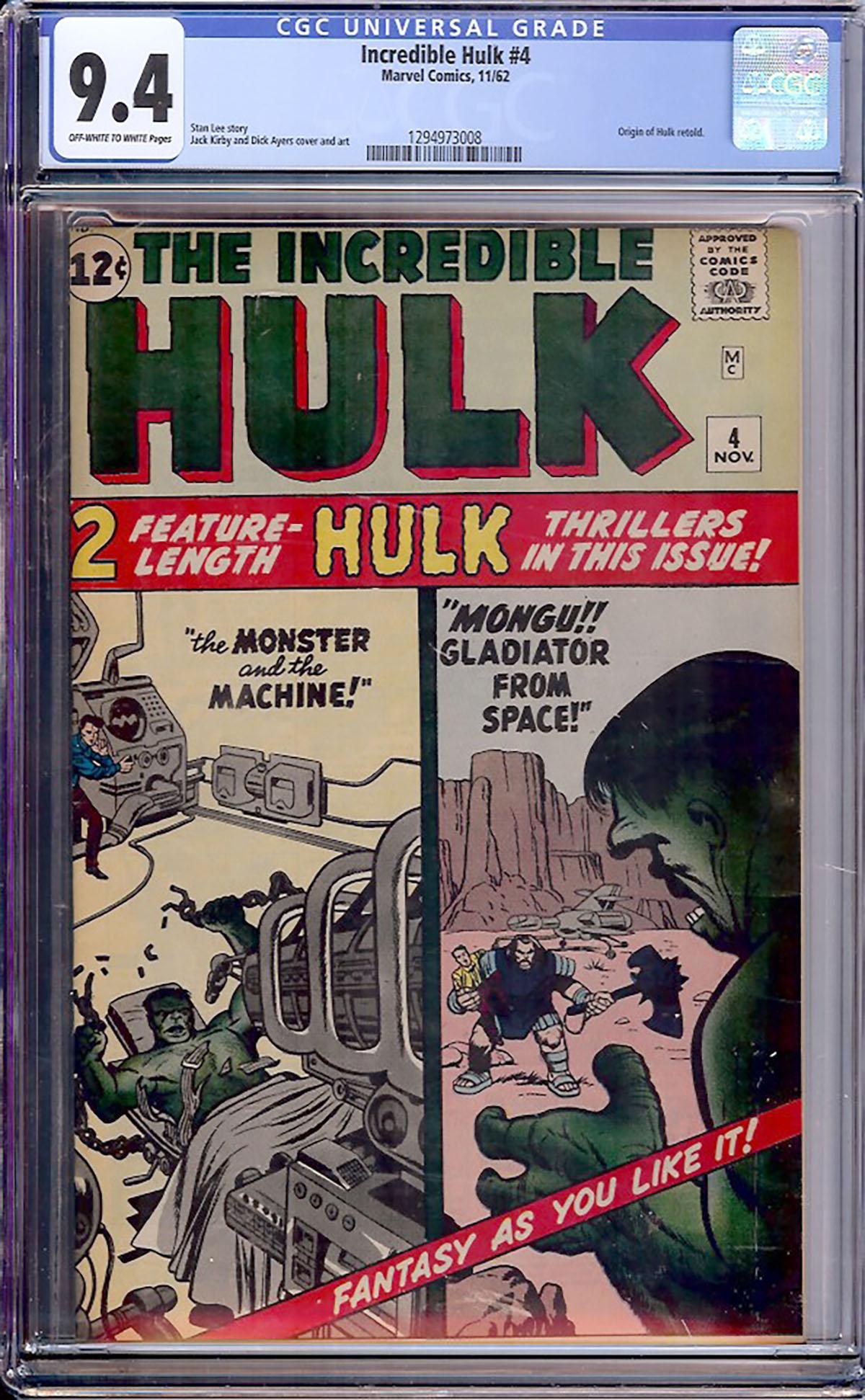 Incredible Hulk #4 CGC 9.4 ow/w