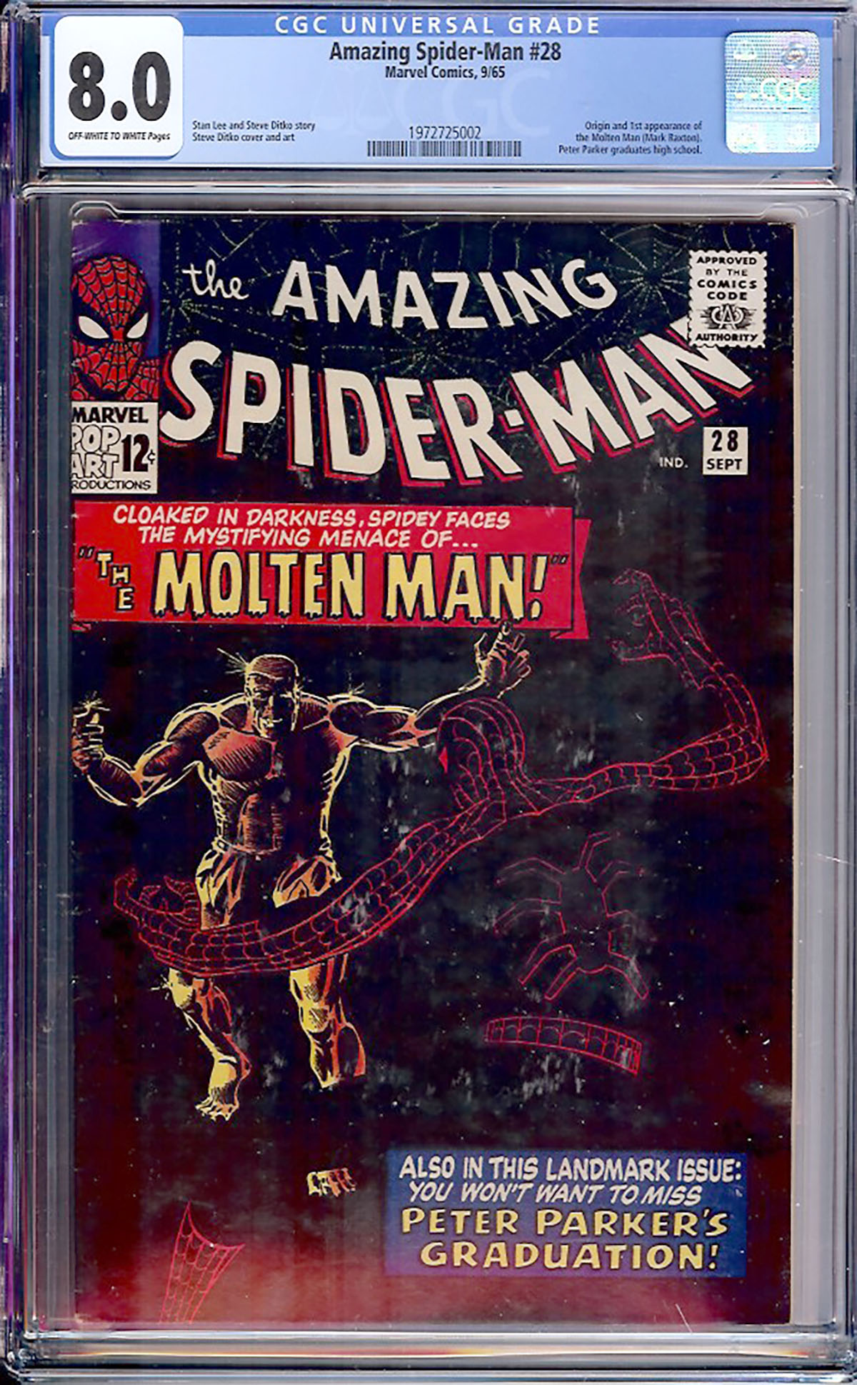Amazing Spider-Man #28 CGC 8.0 ow/w