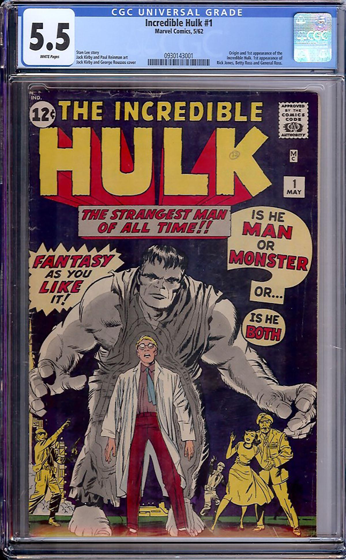Incredible Hulk #1 CGC 5.5 w