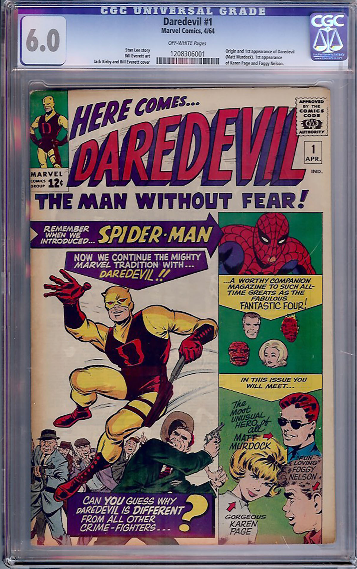 Daredevil #1 CGC 6.0 ow