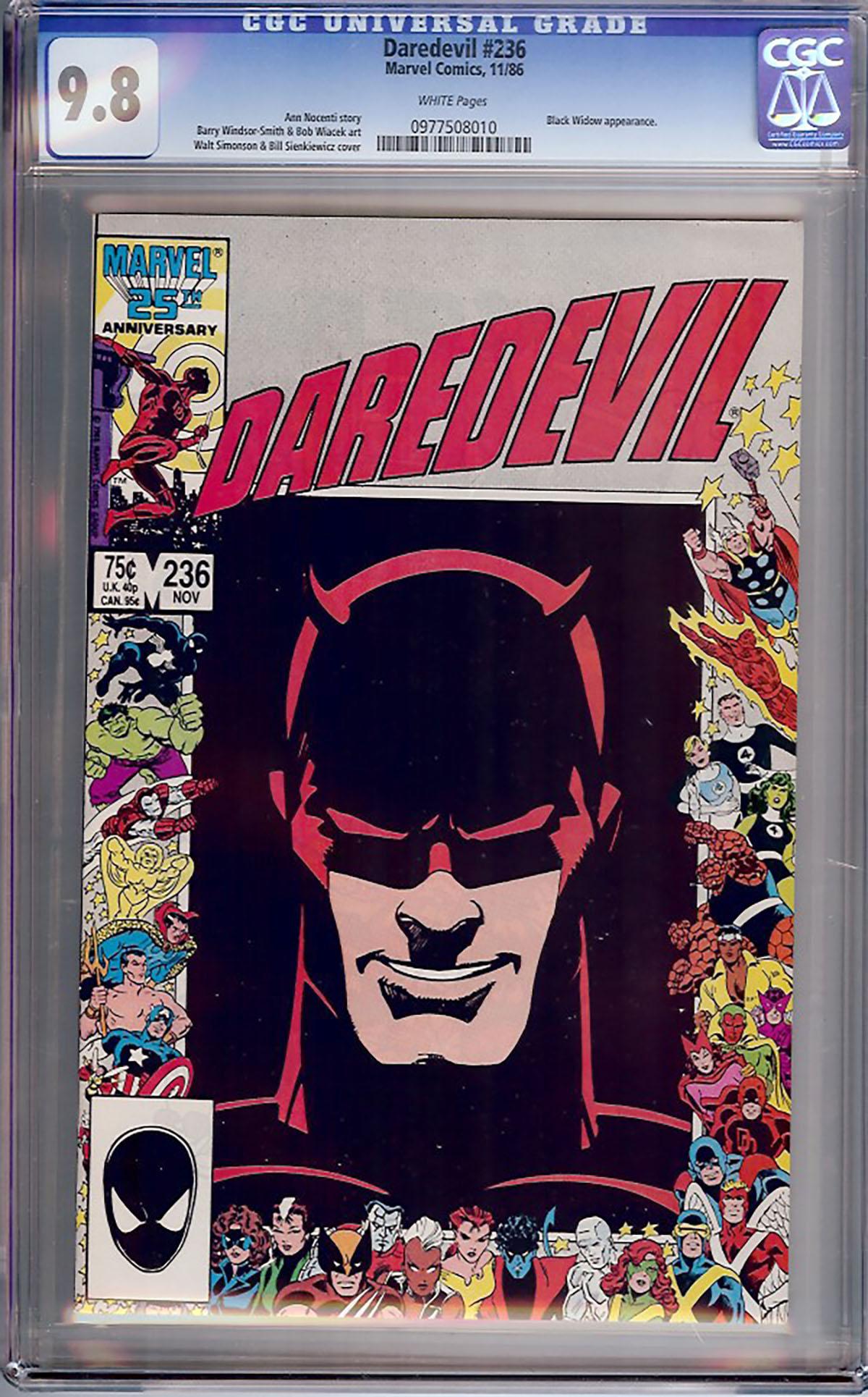 Daredevil #236 CGC 9.8 w