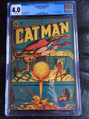 Catman Comics #30 CGC 4.0 ow/w
