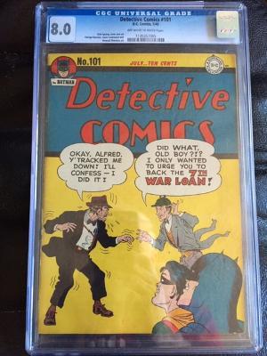 Detective Comics #101 CGC 8.0 ow/w