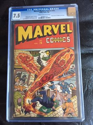 Marvel Mystery Comics #76 CGC 7.5 cr/ow