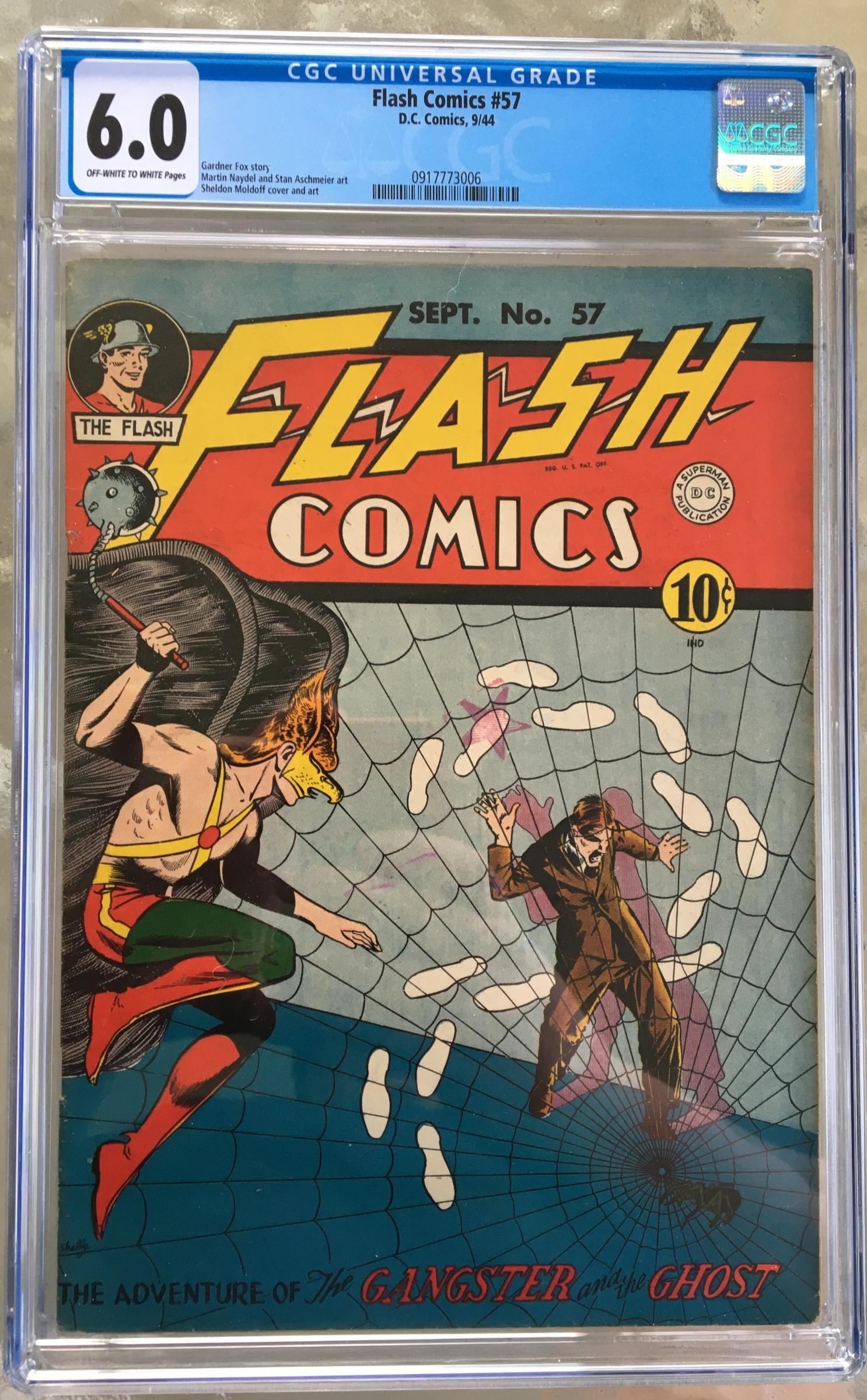Flash Comics #57 CGC 6.0 ow/w