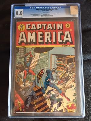 Captain America Comics #55 CGC 8.0 ow