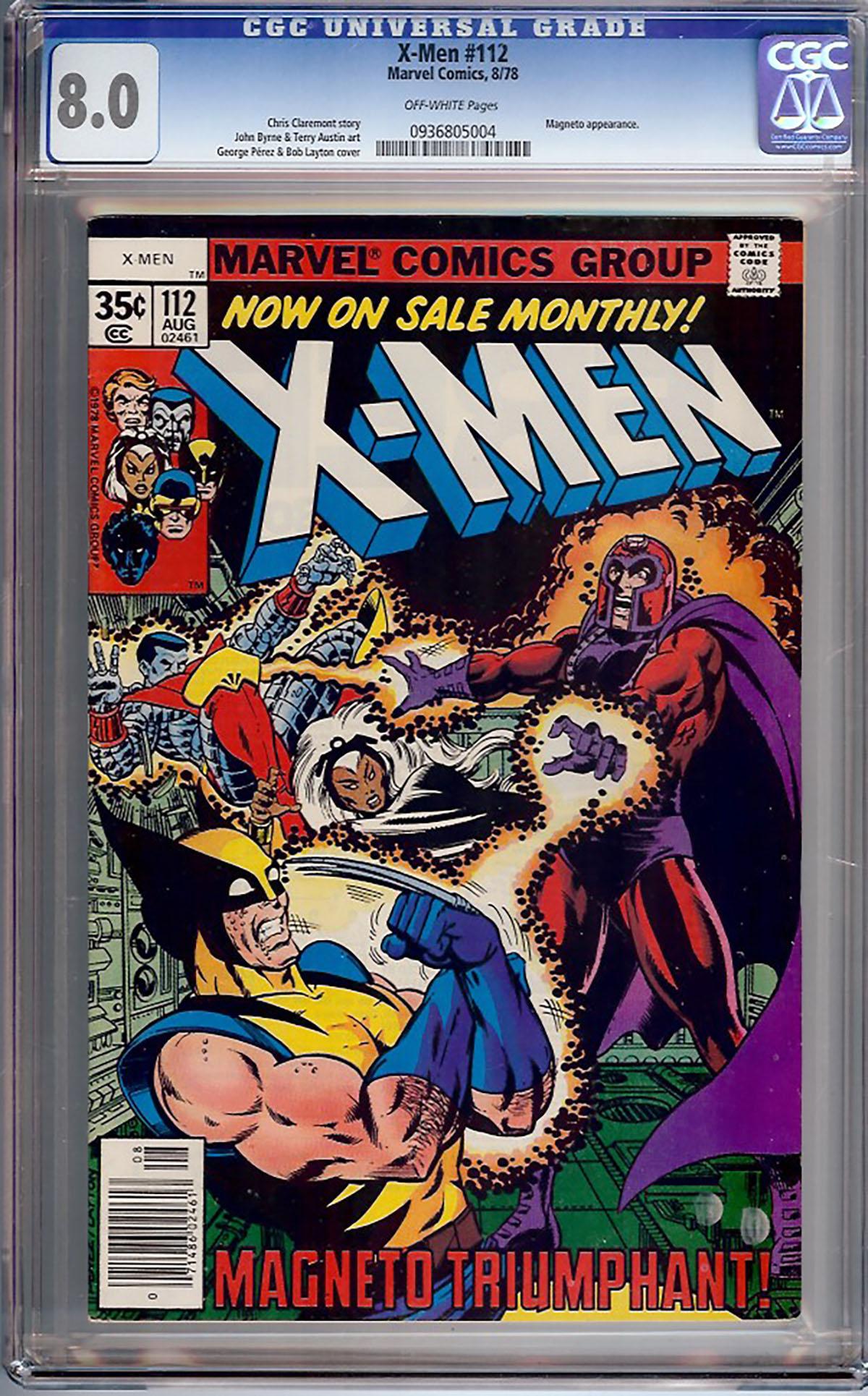 X-Men #112 CGC 8.0 ow