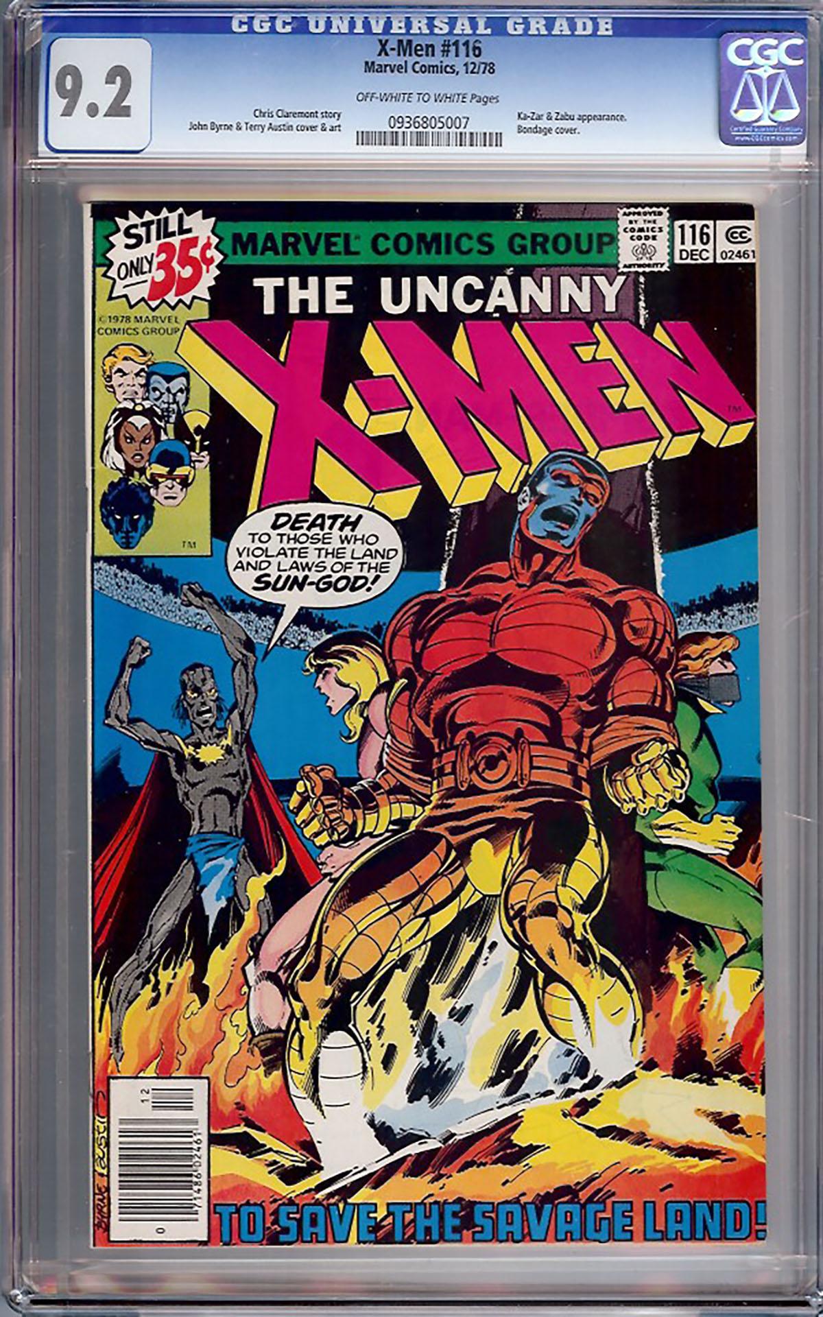 X-Men #116 CGC 9.2 ow/w