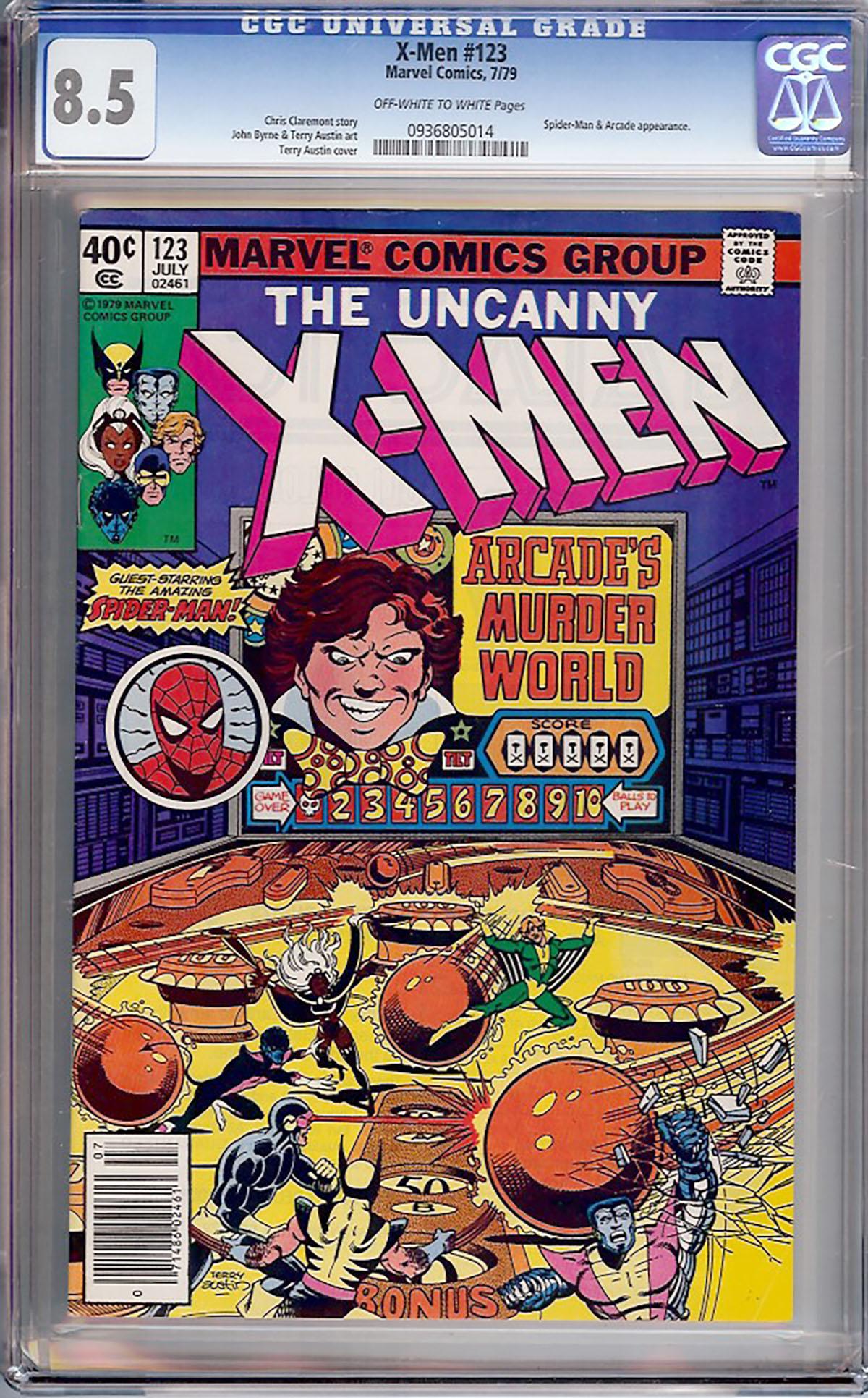 X-Men #123 CGC 8.5 ow/w