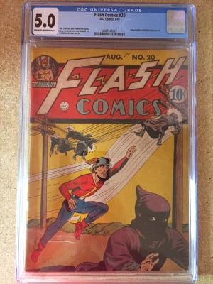 Flash Comics #20 CGC 5.0 cr/ow