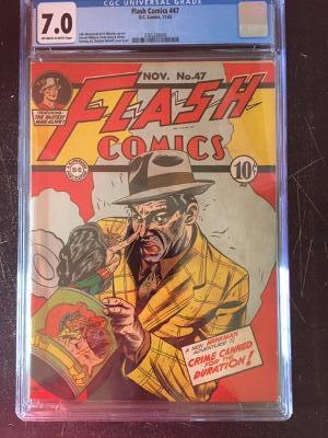 Flash Comics #47 CGC 7.0 ow/w