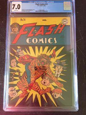 Flash Comics #74 CGC 7.0 w