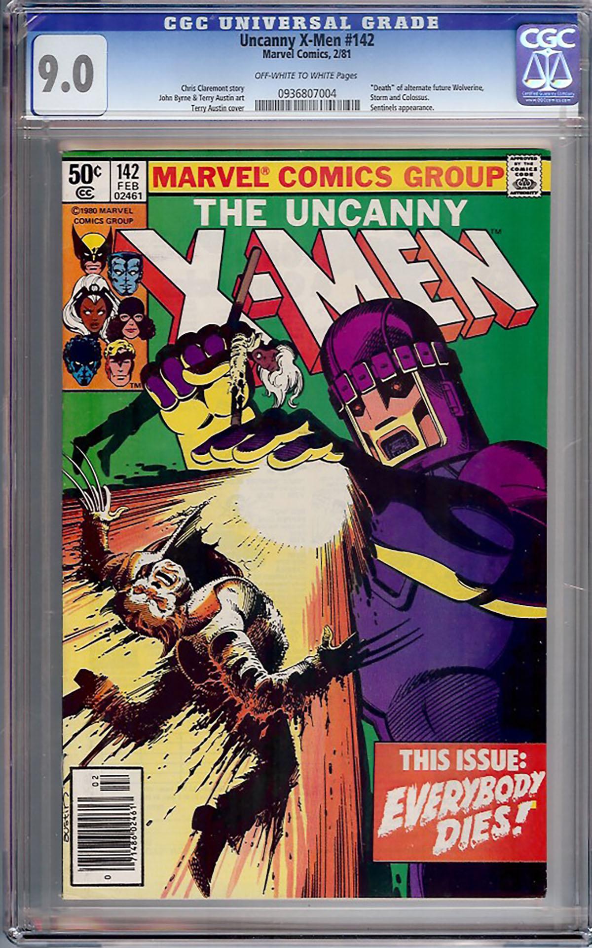 Uncanny X-Men #142 CGC 9.0 ow/w
