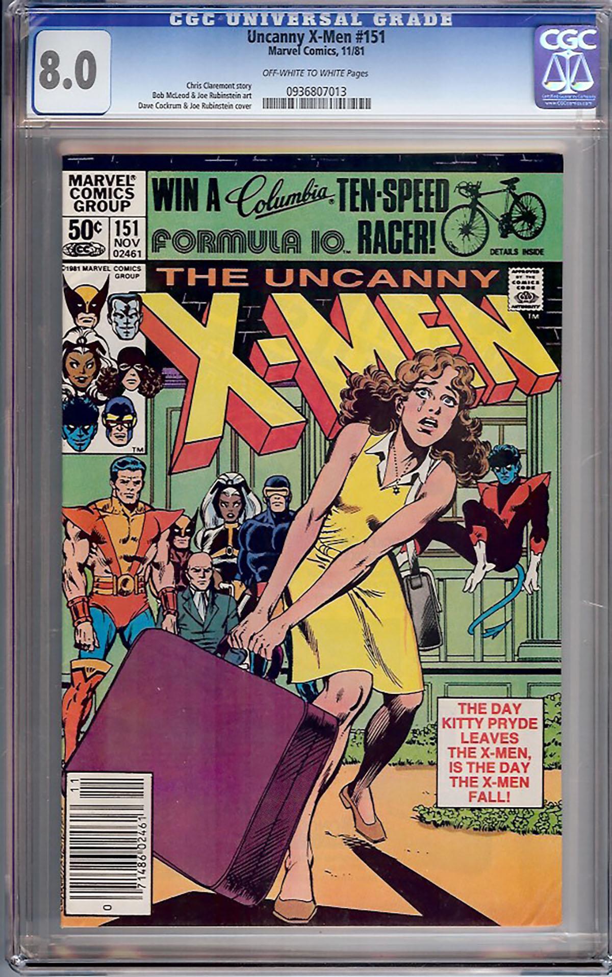 Uncanny X-Men #152 CGC 9.0 ow/w