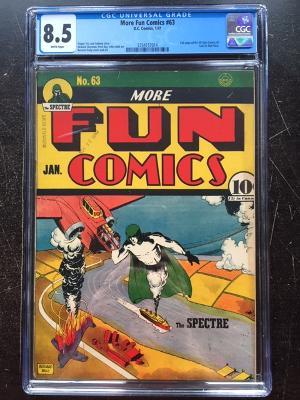 More Fun Comics #63 CGC 8.5 w