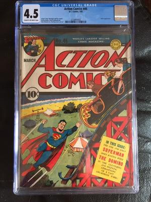 Action Comics #46 CGC 4.5 cr/ow