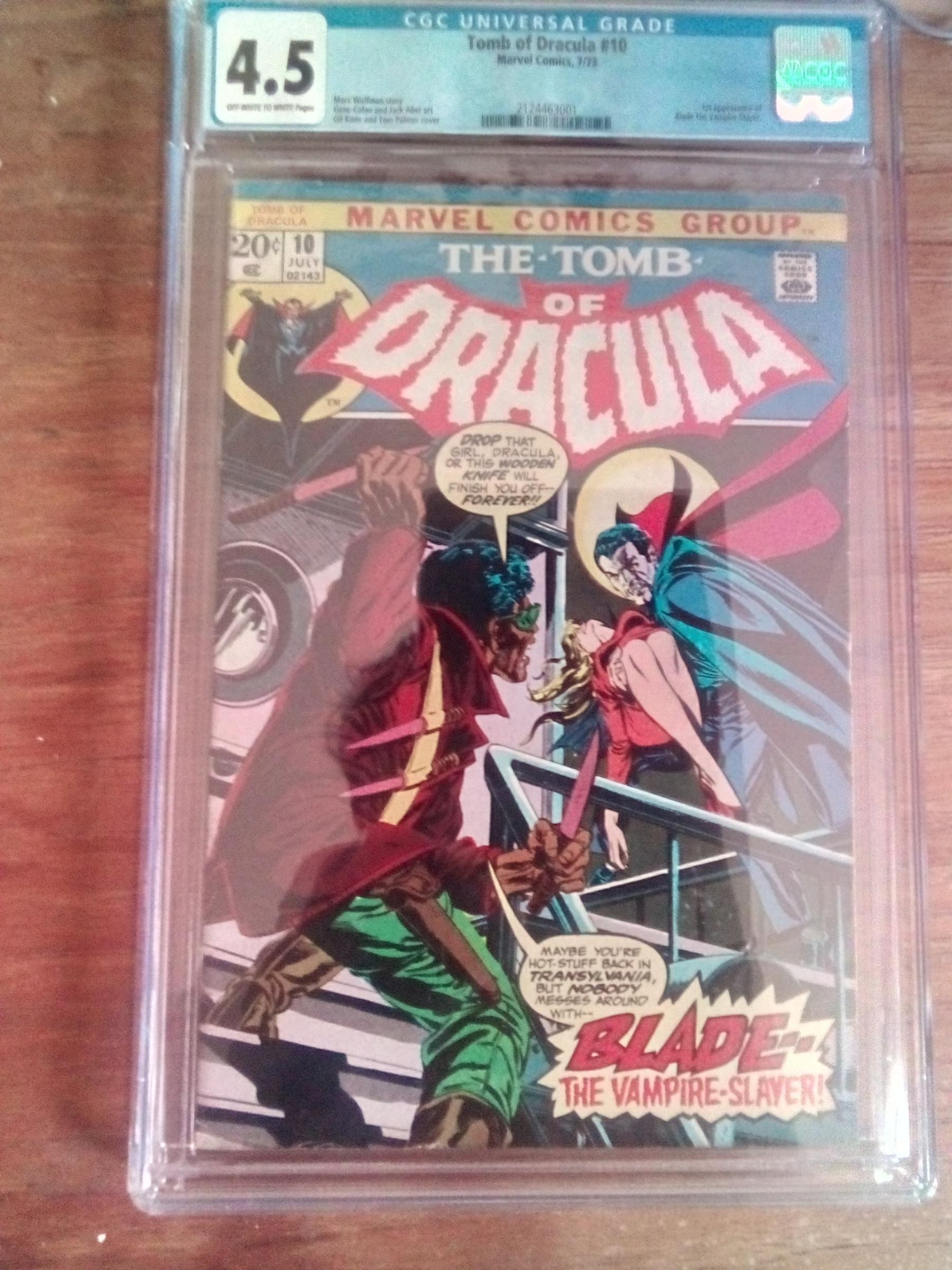Tomb of Dracula #10 CGC 4.5 ow
