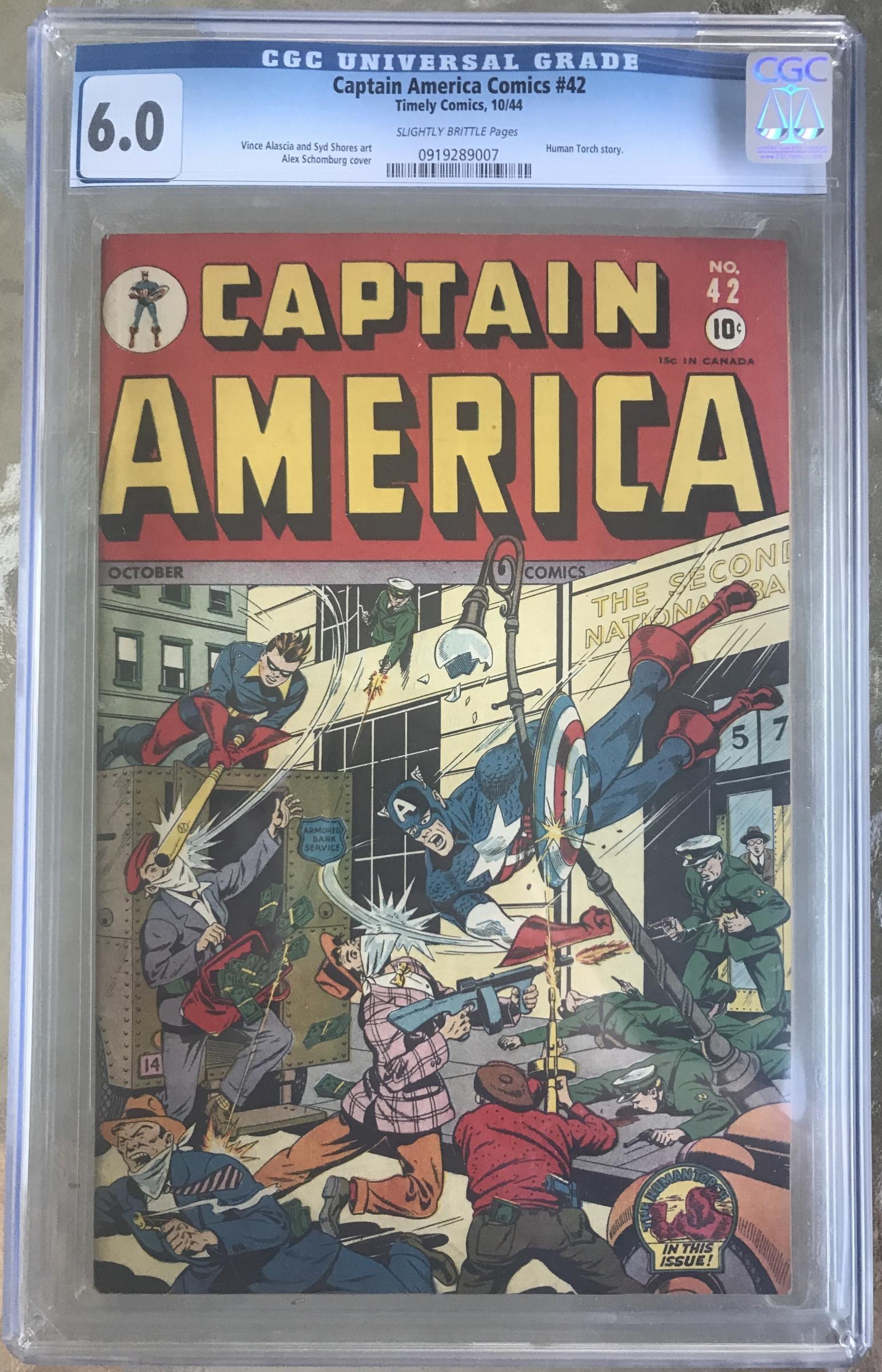 Captain America Comics #42 CGC 6.0 sb