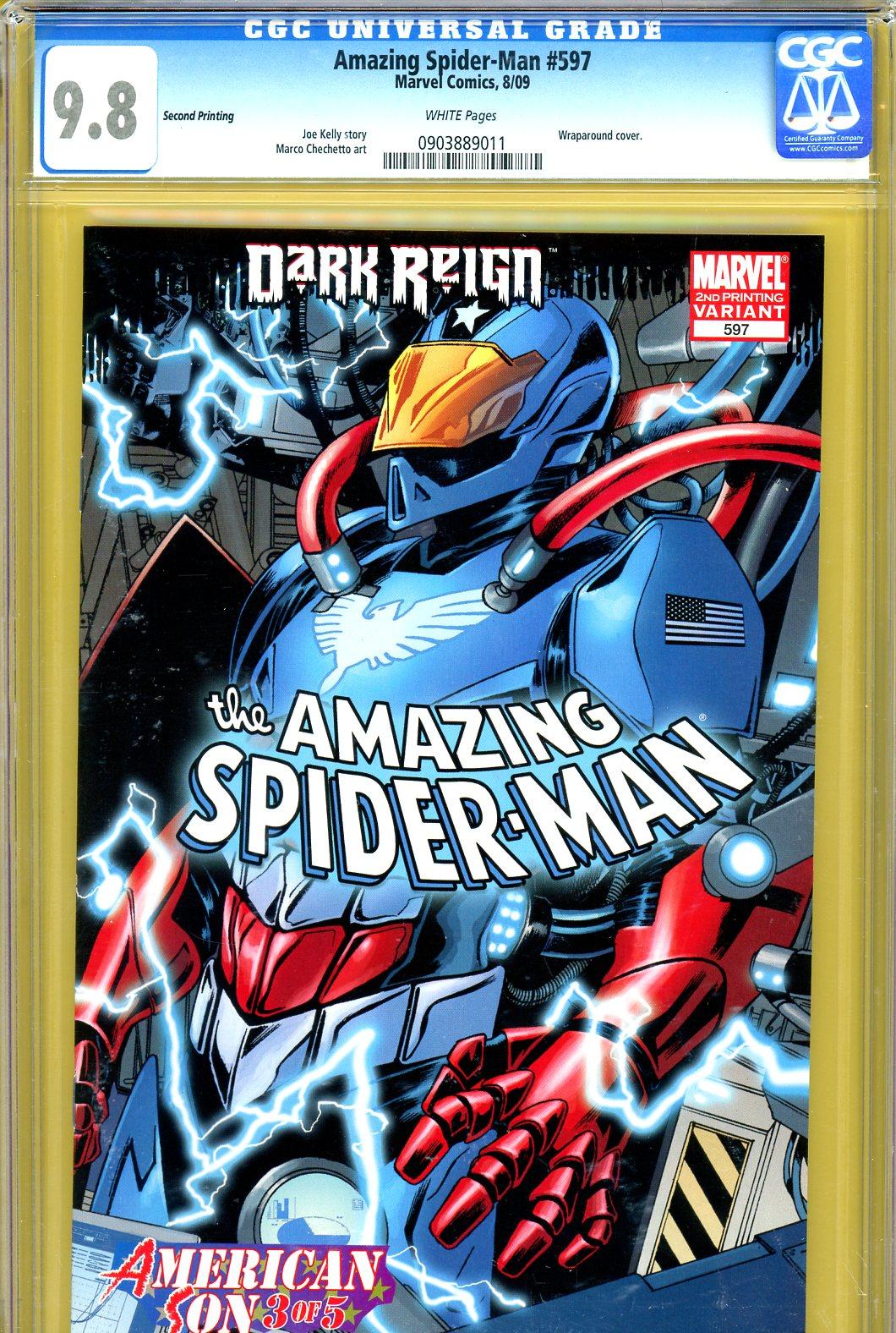 Amazing Spider-Man #597 CGC 9.8 w Variant Edition
