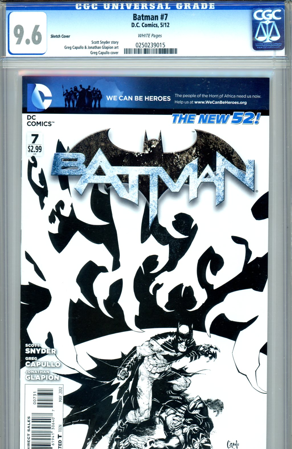 Batman #7 CGC 9.6 w Sketch Cover