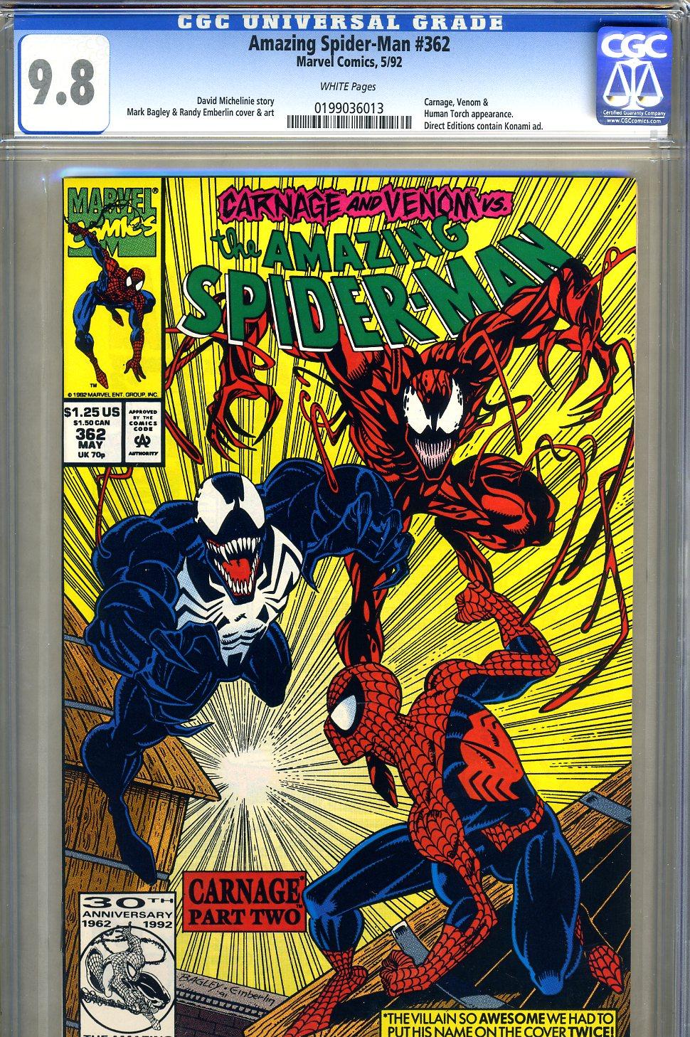 Amazing Spider-Man #362 CGC 9.8 w