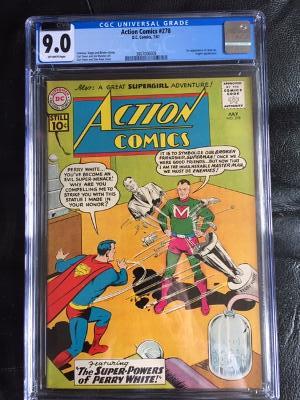 Action Comics #278 CGC 9.0 ow