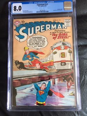 Superman #123 CGC 8.0 ow/w