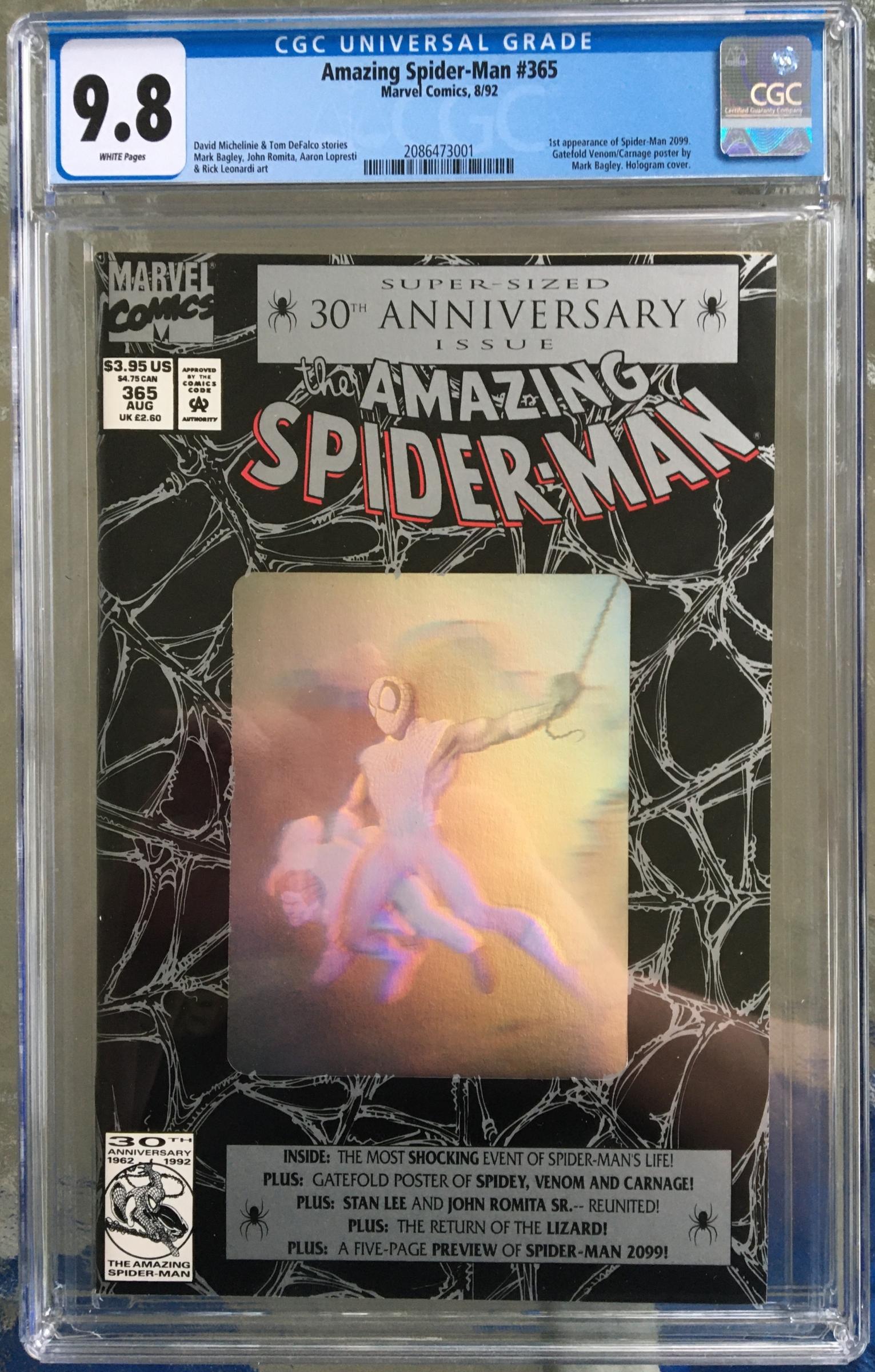 Amazing Spider-Man #365 CGC 9.8 w