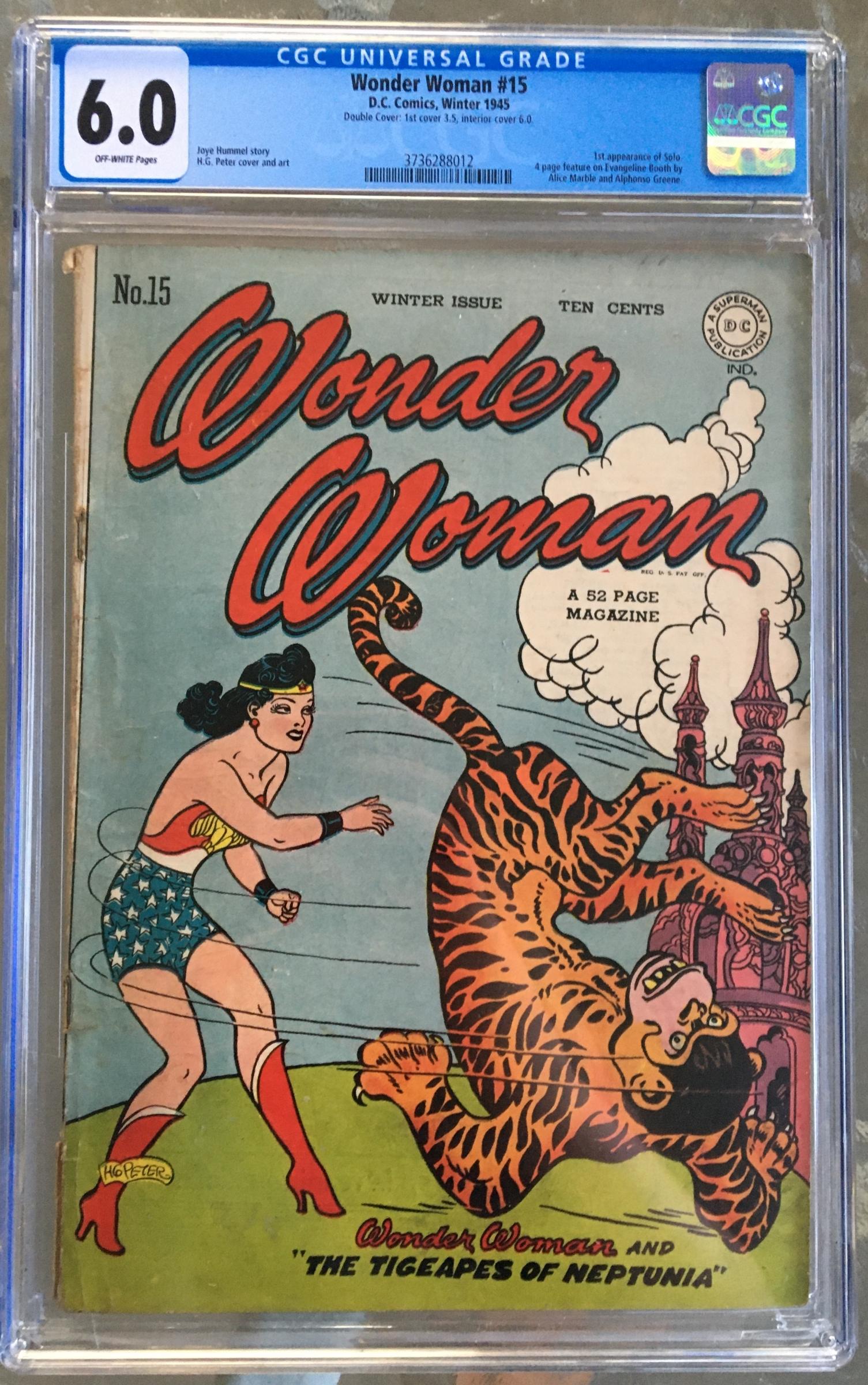 Wonder Woman #15 CGC 6.0 ow