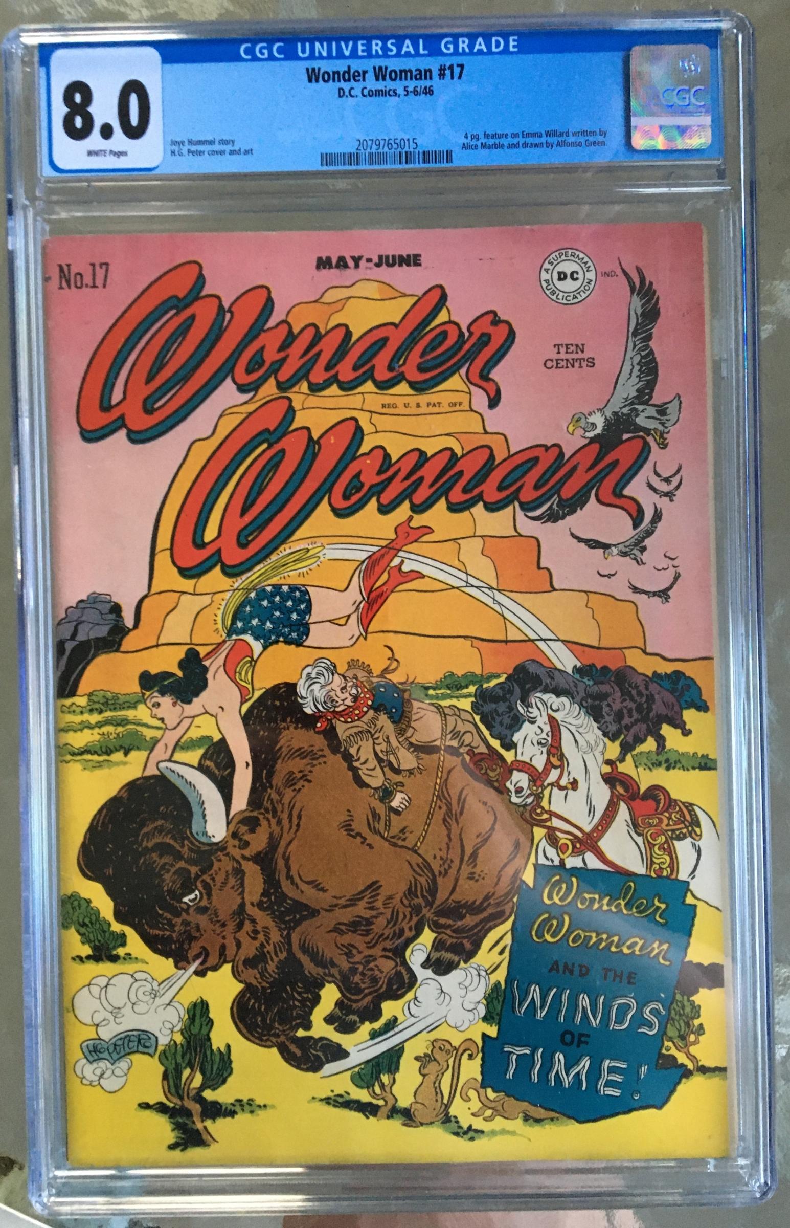 Wonder Woman #17 CGC 8.0 w