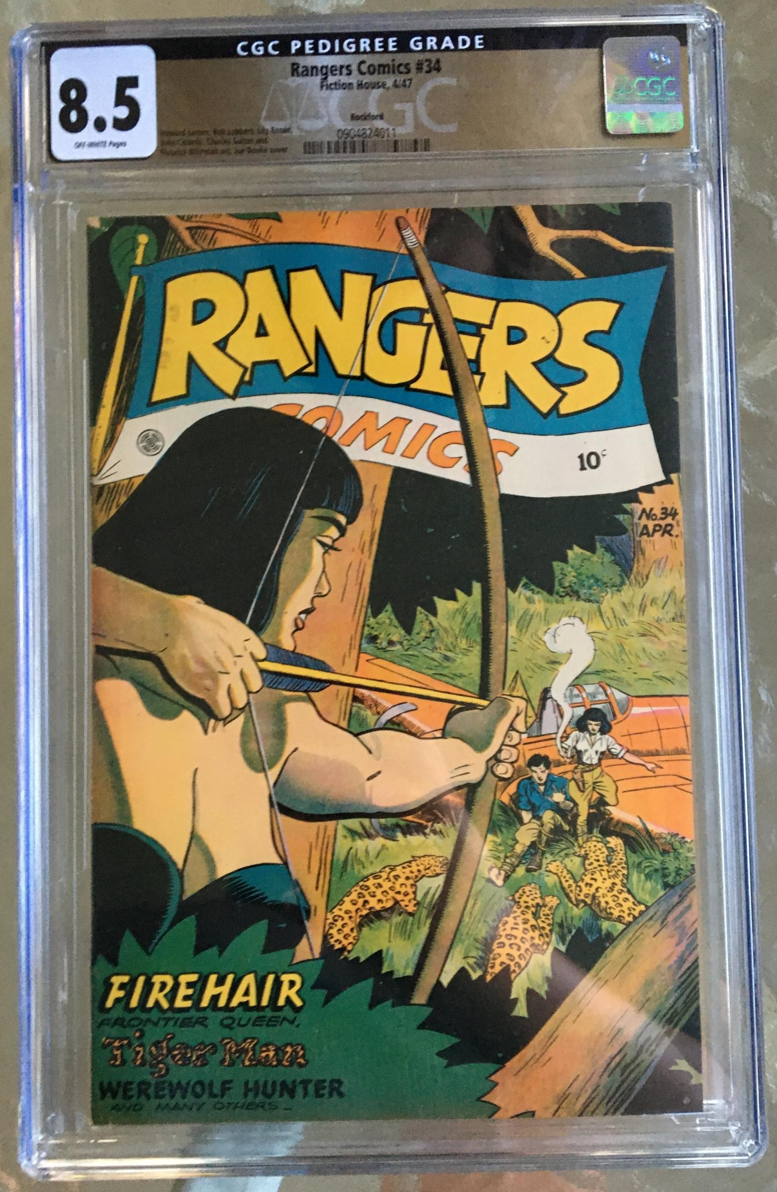 Rangers Comics #34 CGC 8.5 ow Rockford