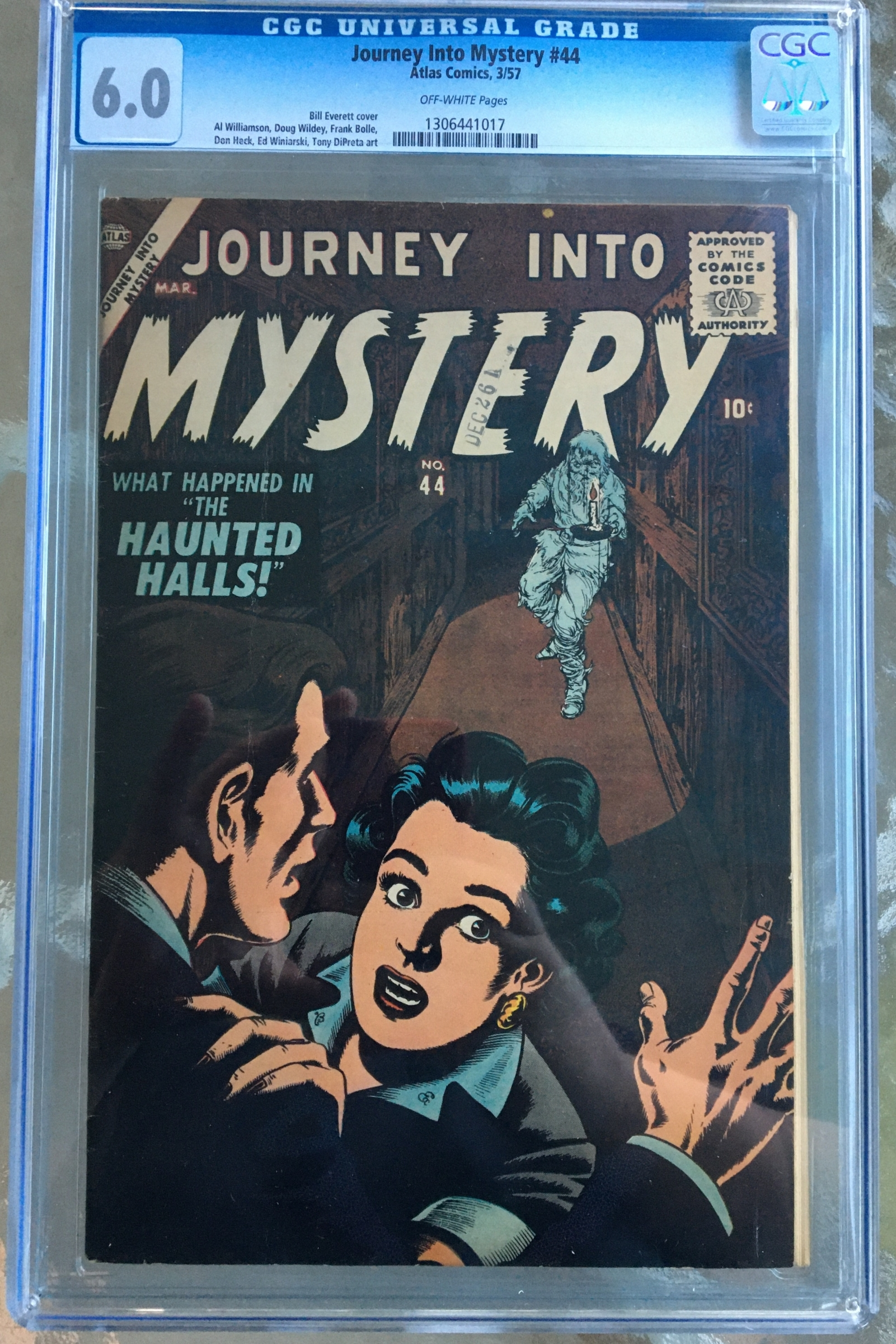 Journey Into Mystery #44 CGC 6.0 ow