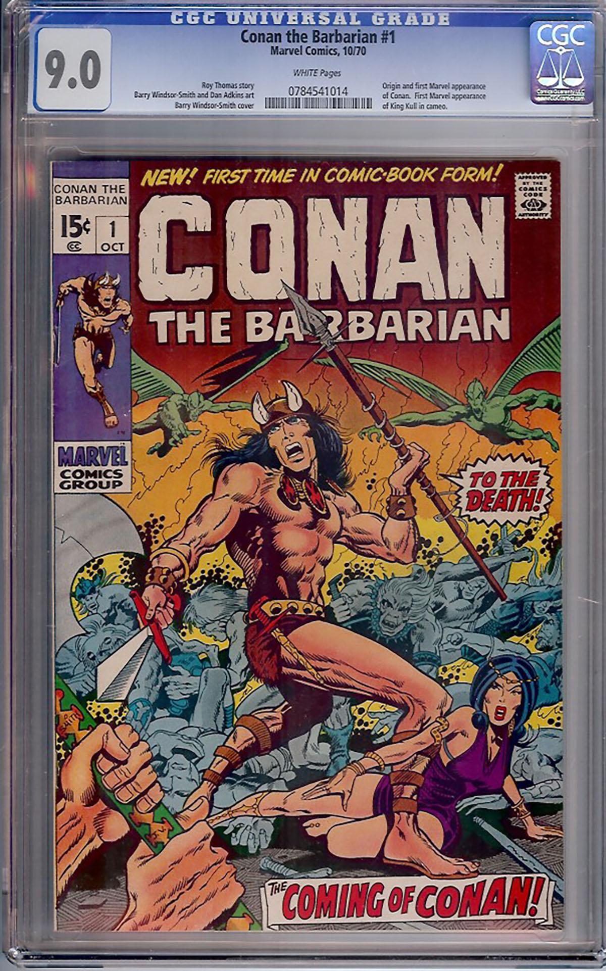 Conan The Barbarian #1 CGC 9.0 w