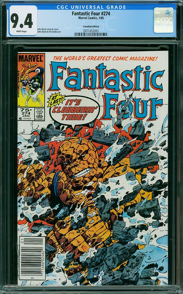 Fantastic Four #274 CGC 9.4 w Canadian Edition