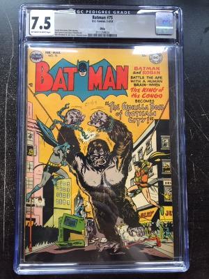Batman #75 CGC 7.5 ow/w Ohio