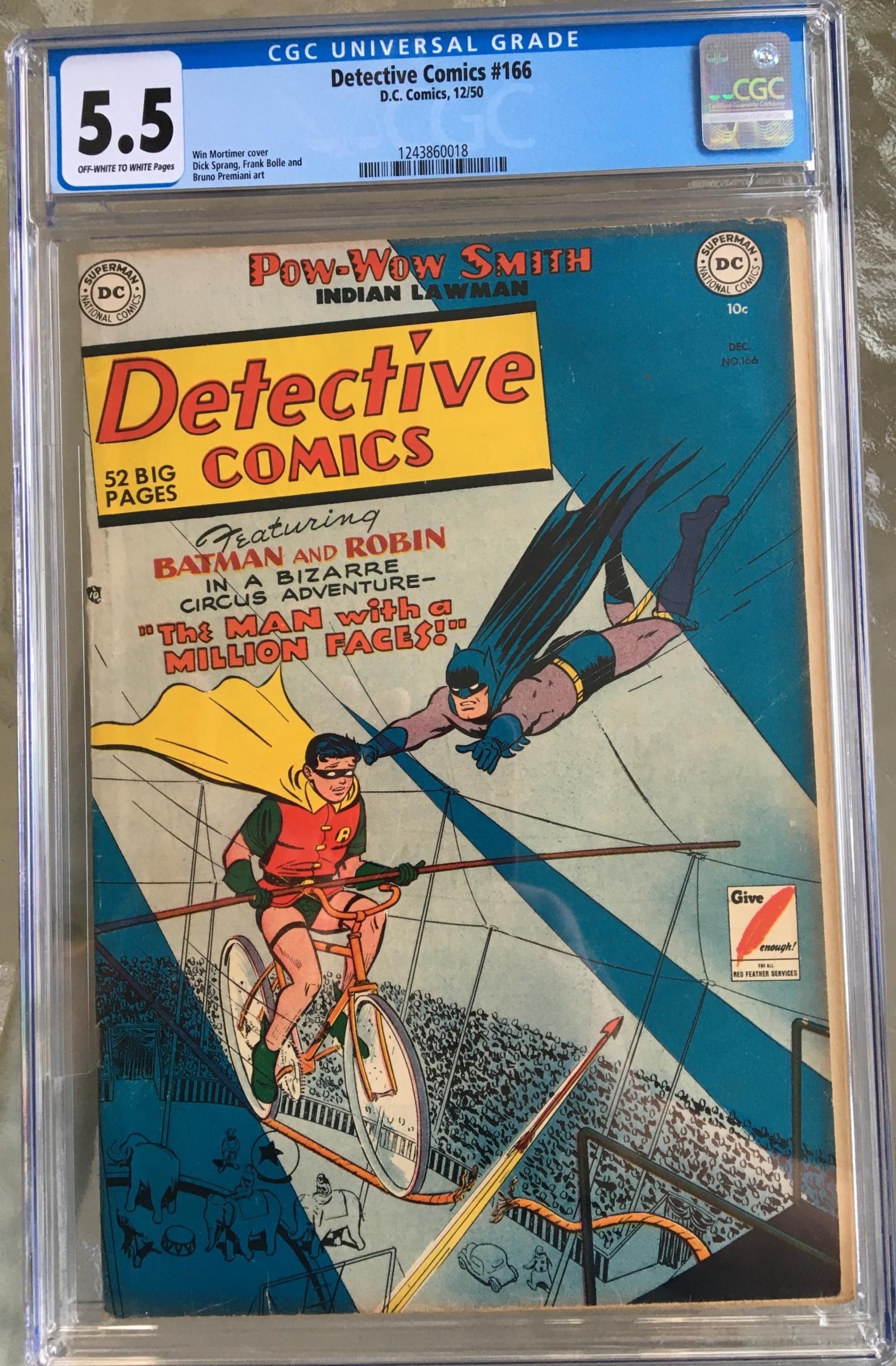 Detective Comics #166 CGC 5.5 ow/w