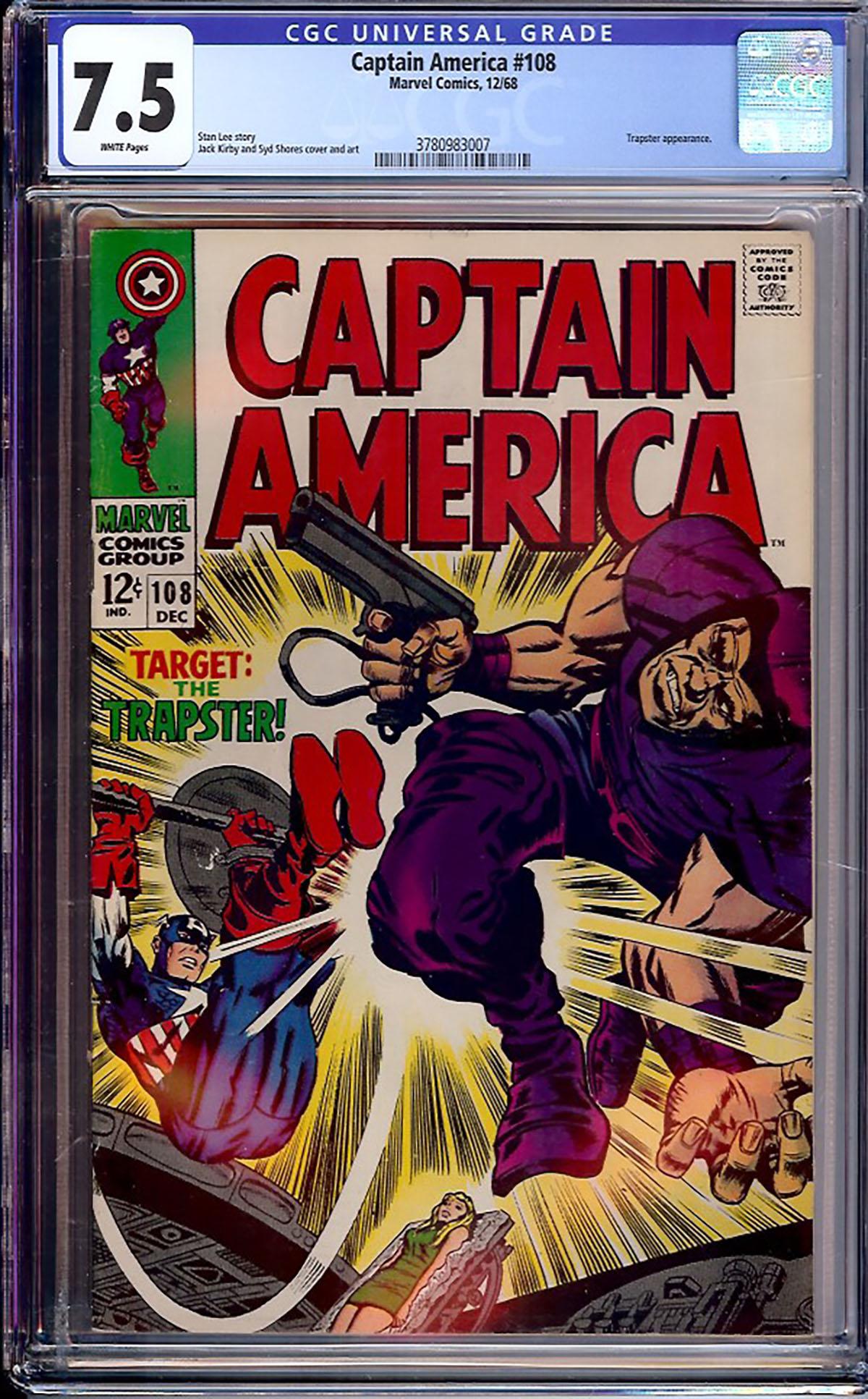 Captain America #108 CGC 7.5 w