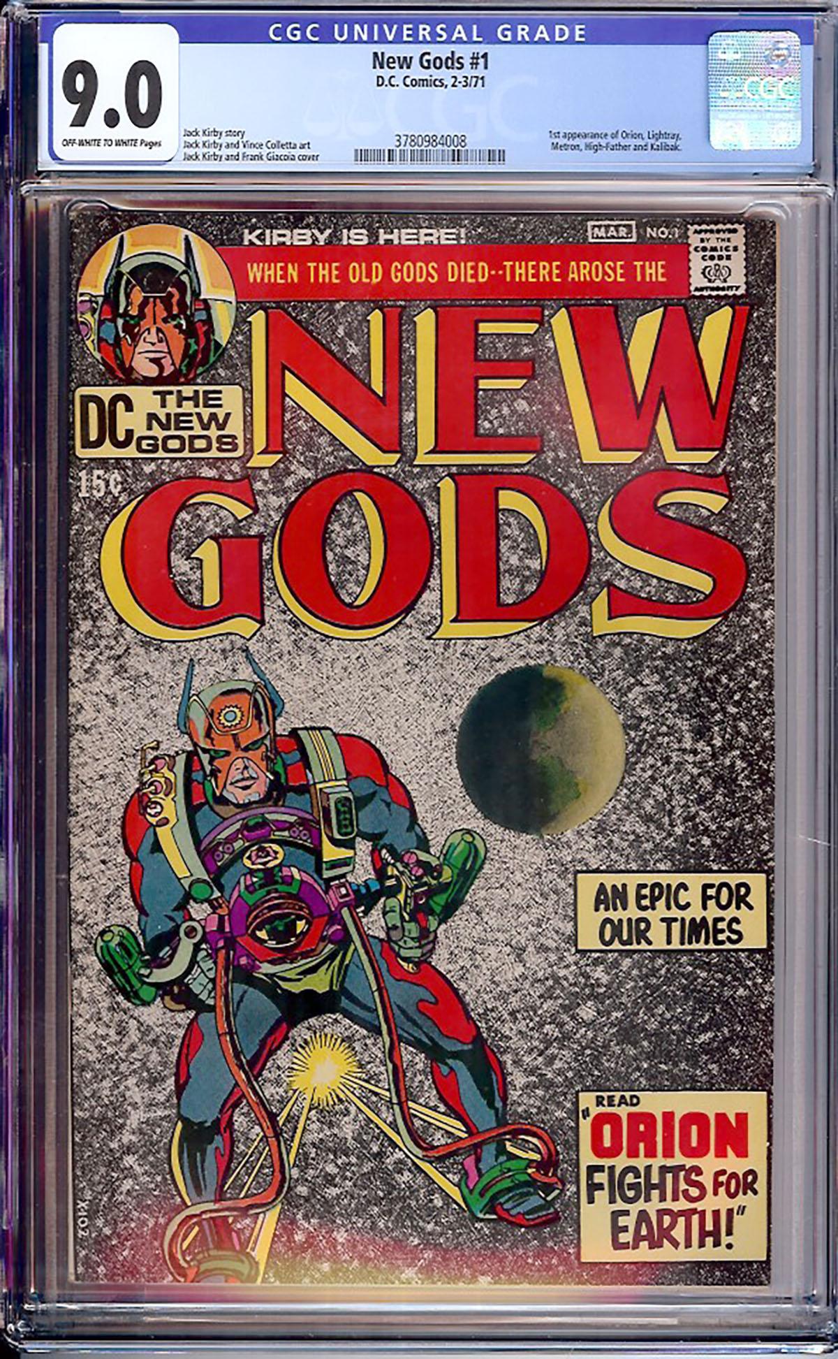 New Gods #1 CGC 9.0 ow/w