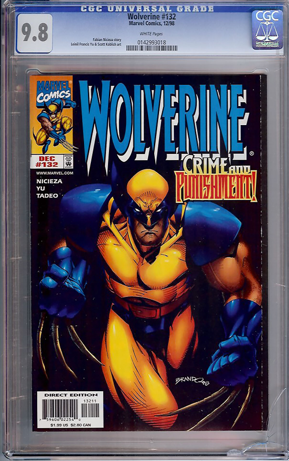 Wolverine #132 CGC 9.8 w