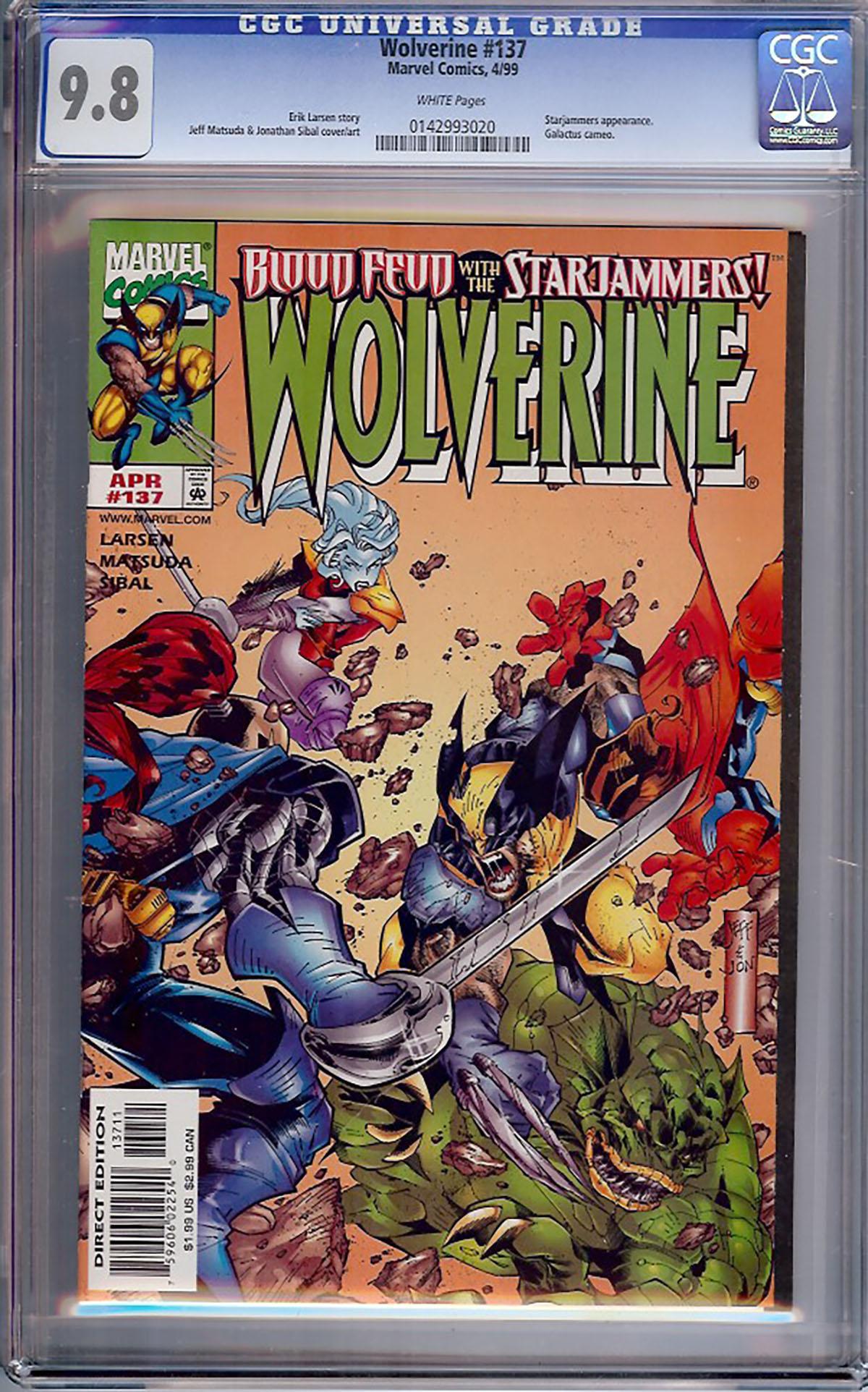 Wolverine #137 CGC 9.8 w