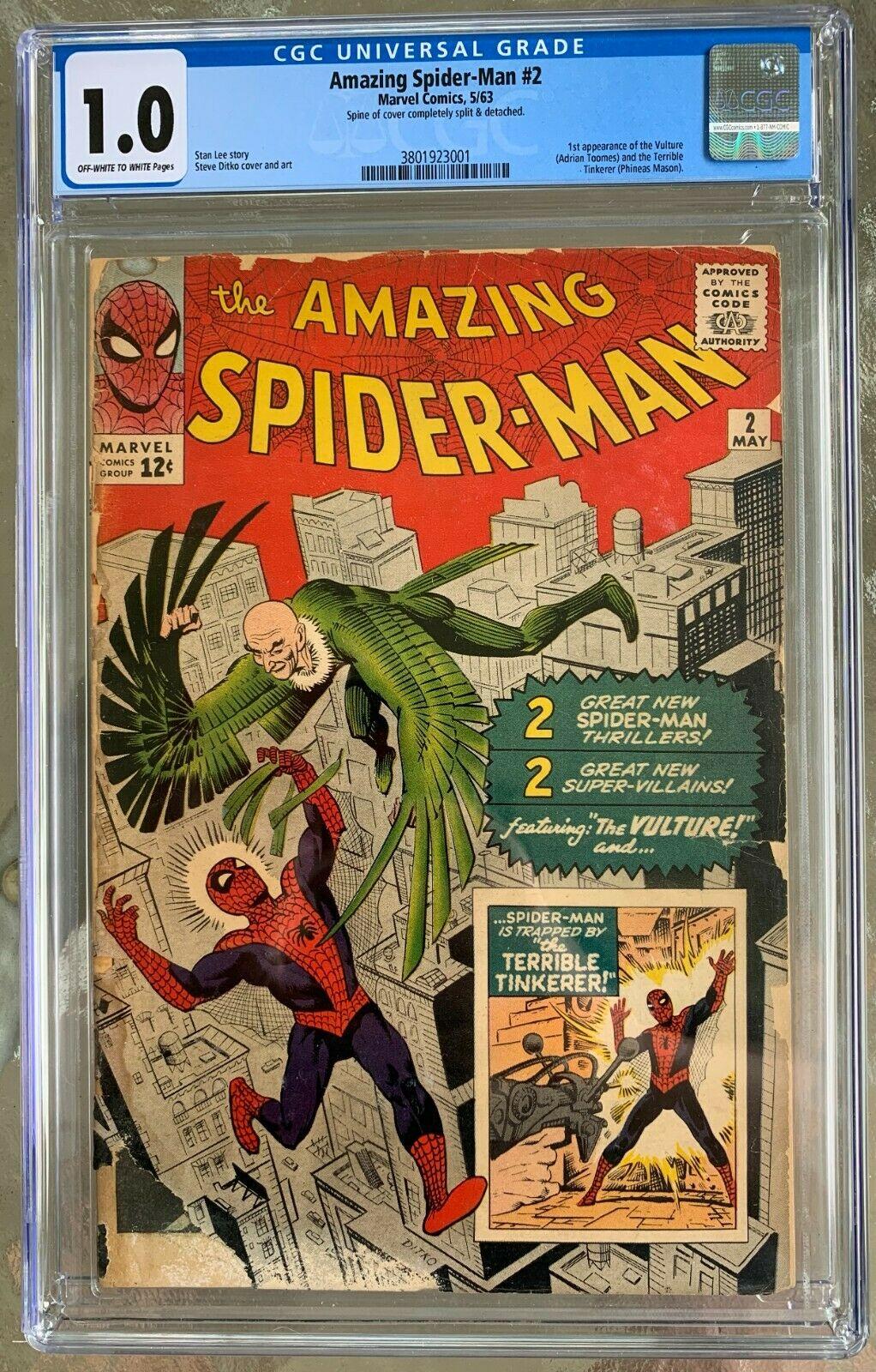 Amazing Spider-Man #2 CGC 1.0 ow/w