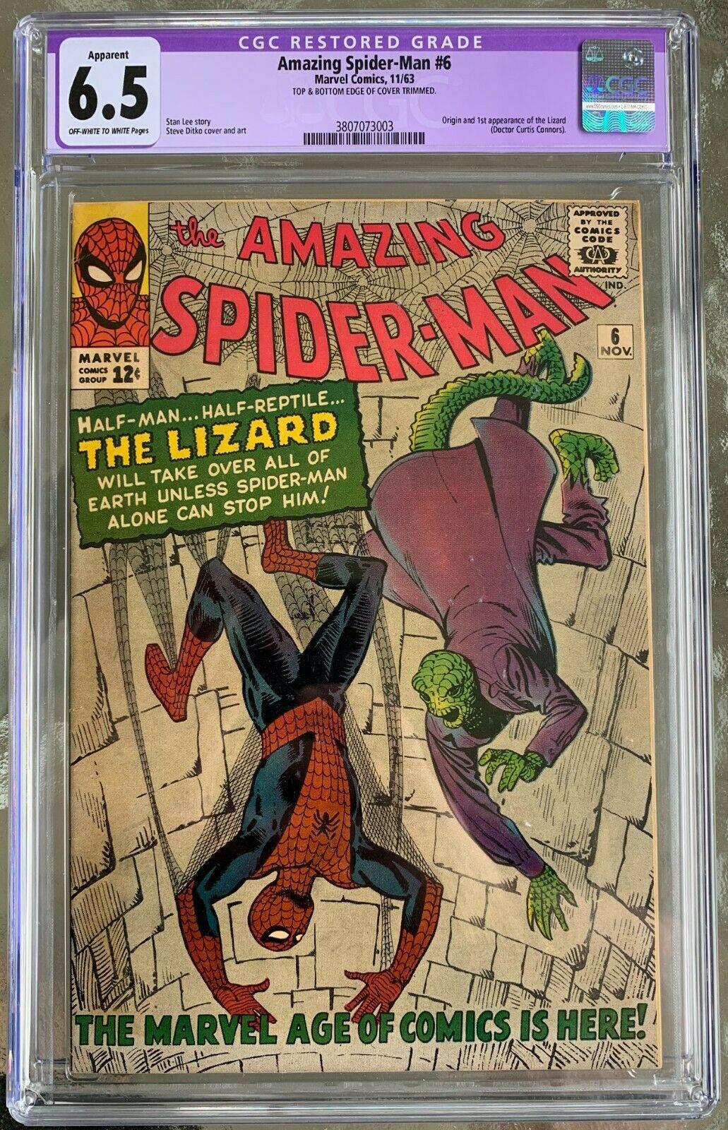 Amazing Spider-Man #6 CGC 6.5 ow/w