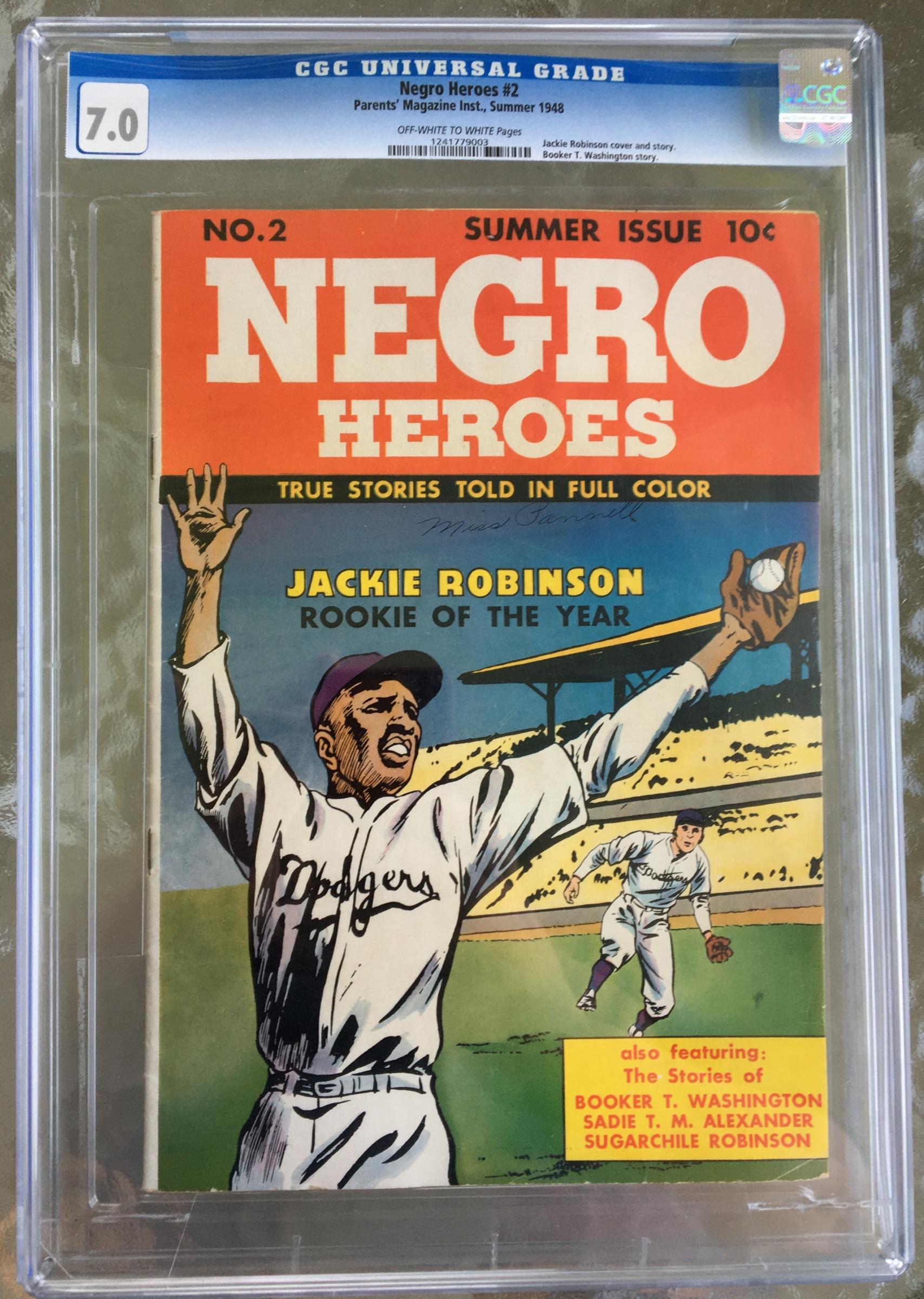 Negro Heroes #2 CGC 7.0 ow/w