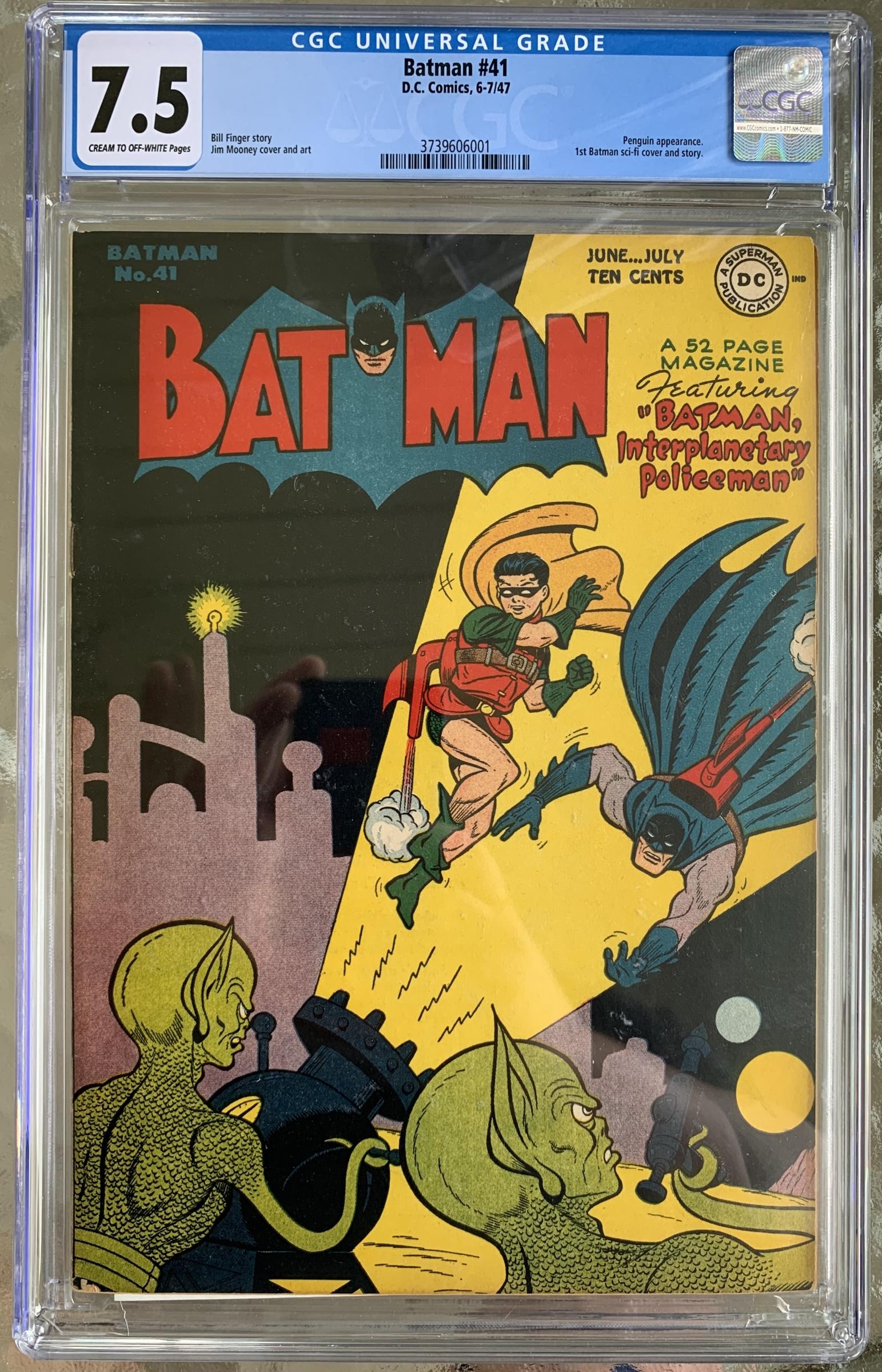 Batman #41 CGC 7.5 cr/ow