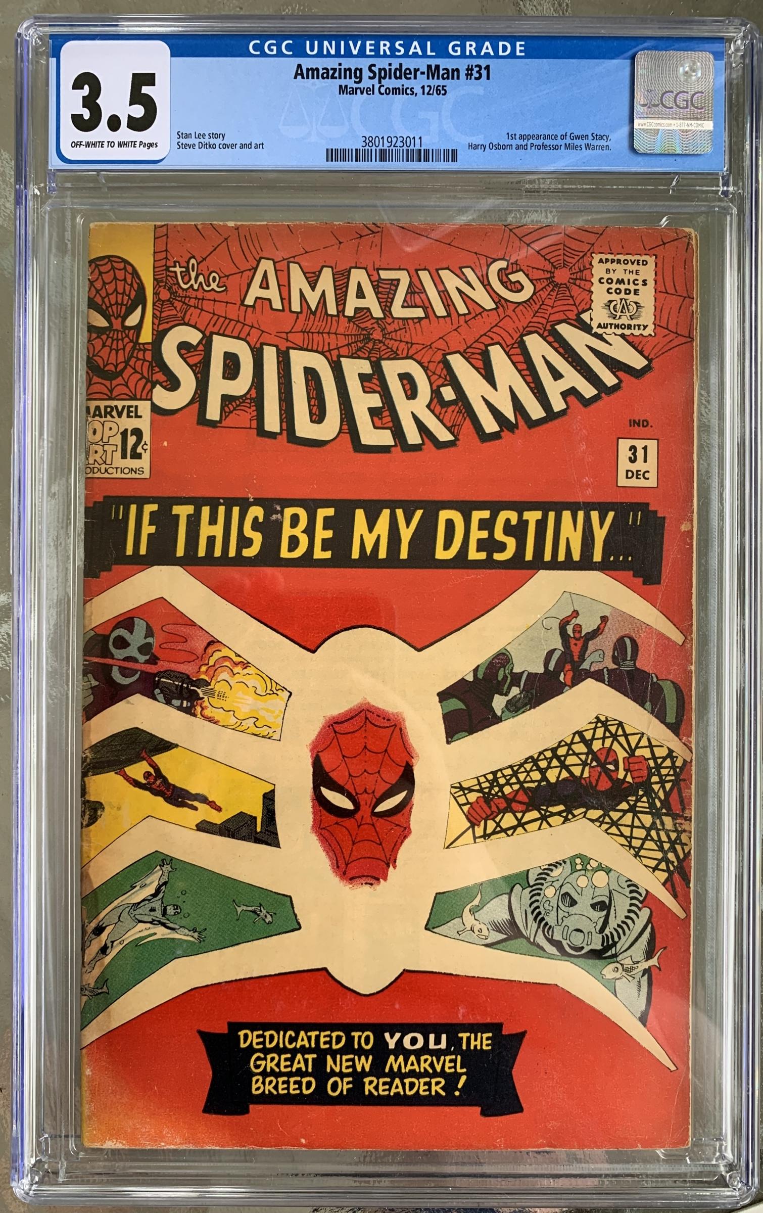 Amazing Spider-Man #31 CGC 3.5 ow/w