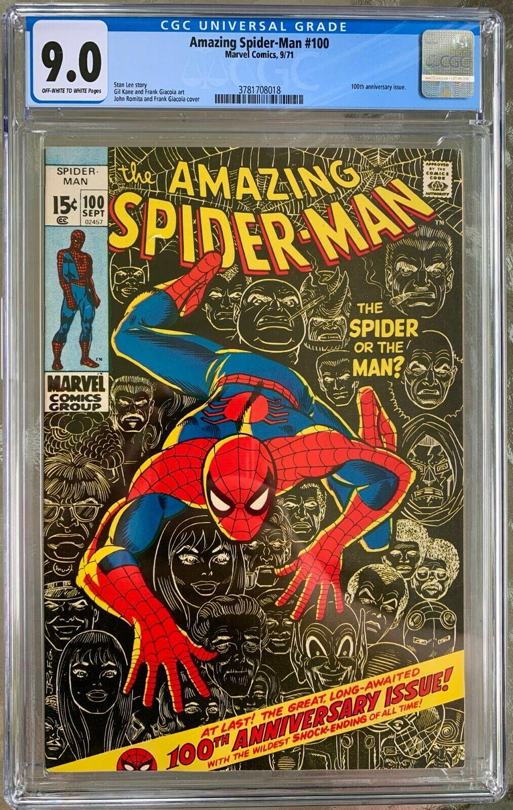 Amazing Spider-Man #100 CGC 9.0 ow/w